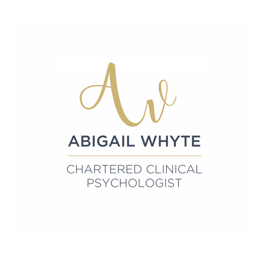 Abigail Whyte Chartered Clinical Psychologist Dublin Logo Design. This logo is made up of Abigail Whyte's initials and they show the movement of a person on the BodySoul and Somatic Experience journey.