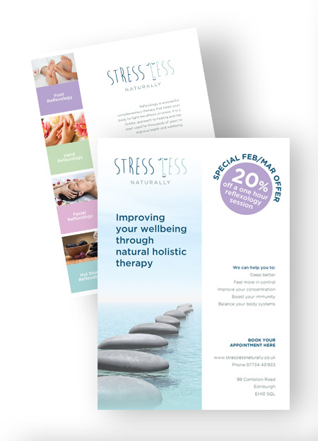 Double Sided Flyer Design to match existing branding