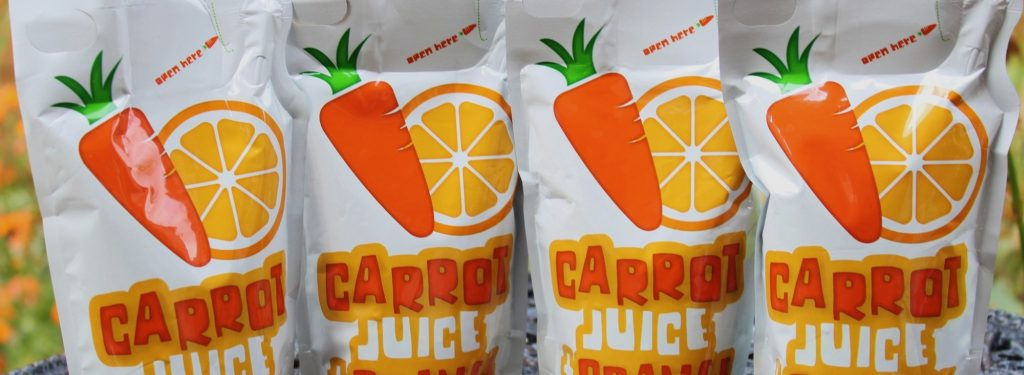 Carrot and Orange Juice Pouch - Packaging Design