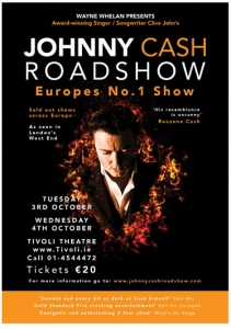 Poster Design For Johnny Cash Roadshow Tivoli Theatre