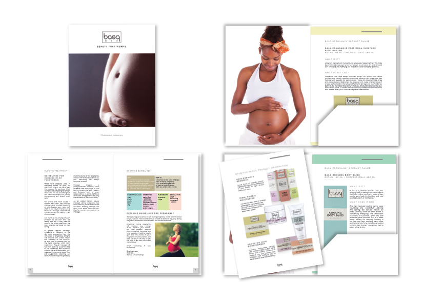 Brochure Design with pocket for BASQ pregnancy products