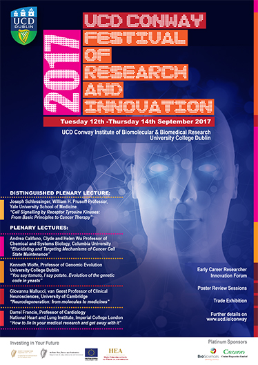 UCD Conway Festival of Research and Innovation Poster Design Campaign 2017