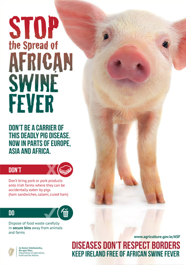 Dept Agriculture Poster Design African Swine Fever Campaign