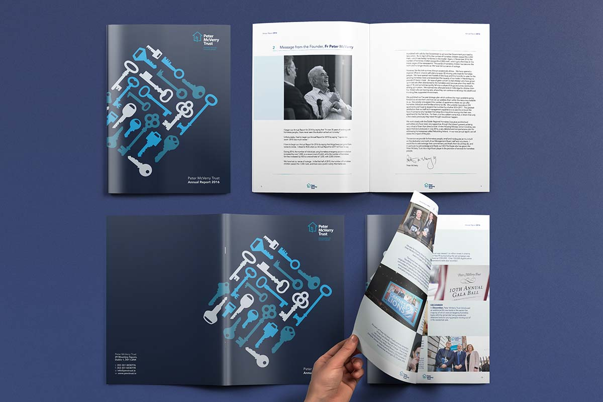 Annual Report Design Dublin Peter McVerry Trust