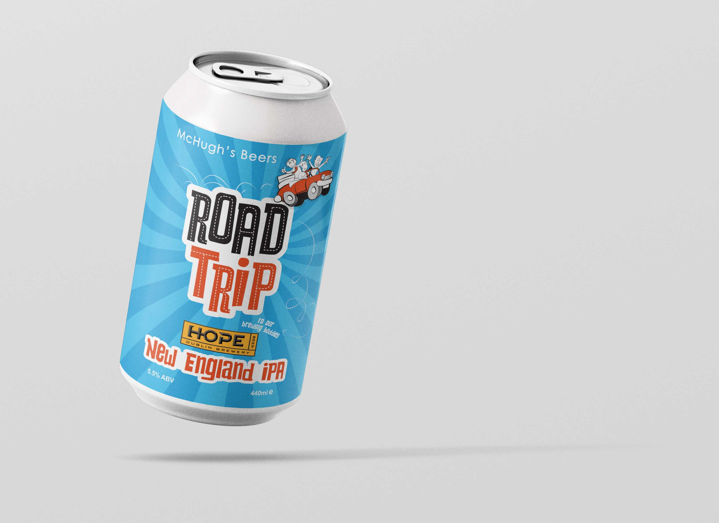 Mc Hughs RoadTrip Beer Label Design Dublin