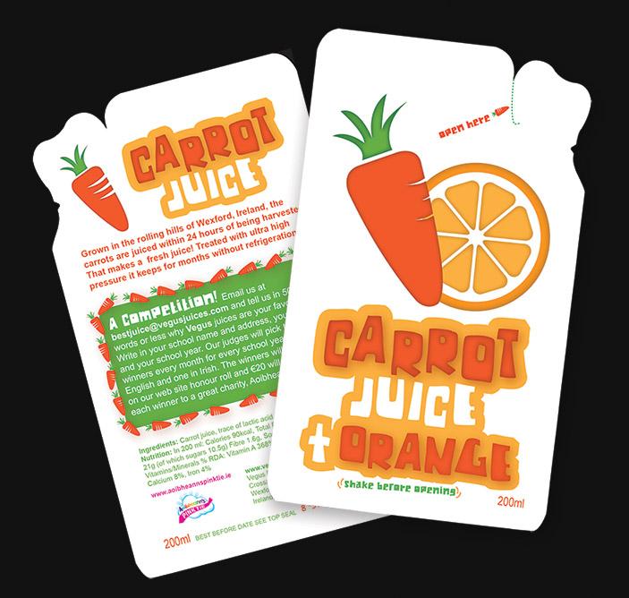 Carrot Juice & orange pouch for website - Una Healy Award