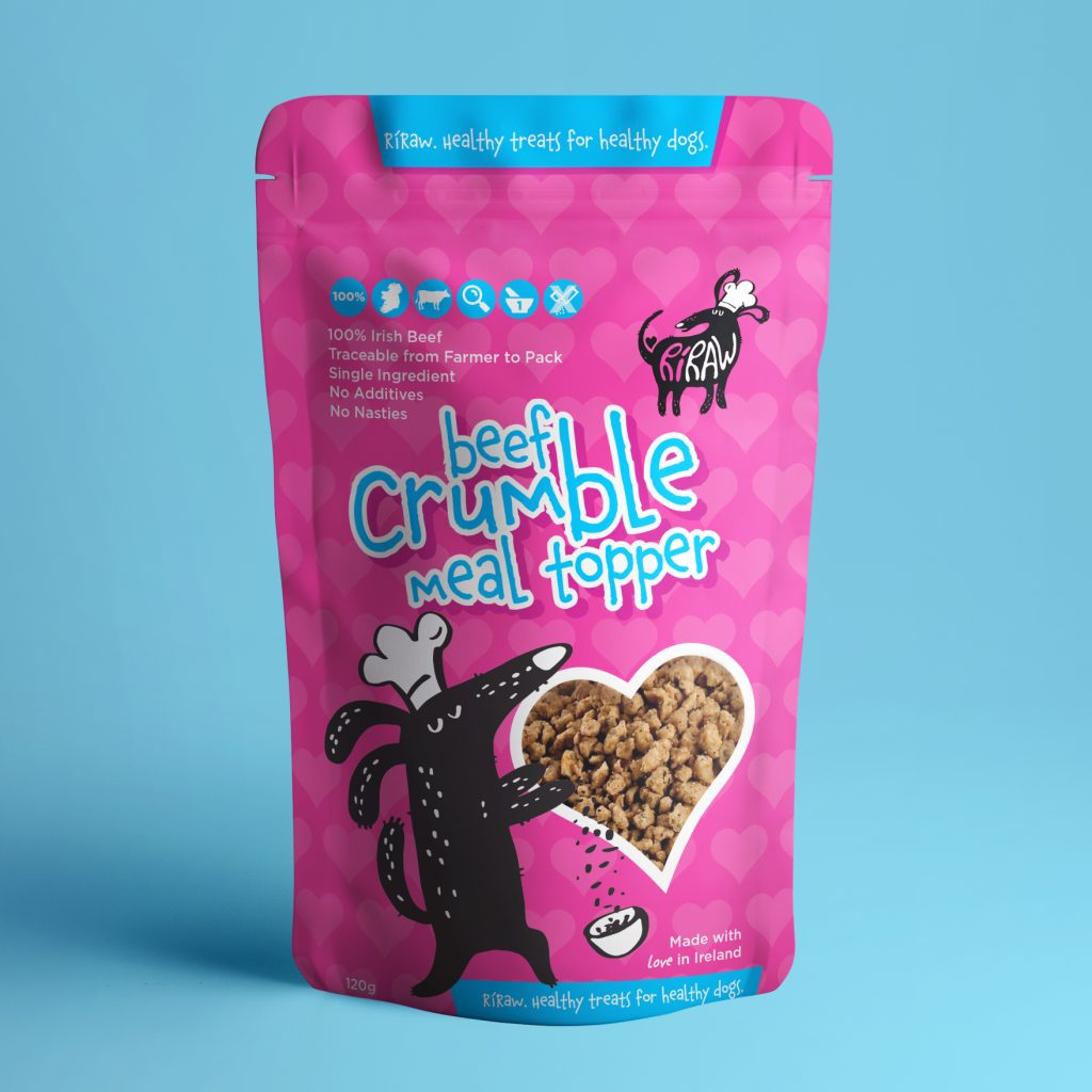 RiRaw Crumble Packaging design Dublin