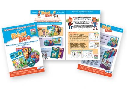 Beal Beo Irish Language Brochure design for Edco