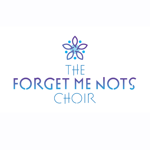 ForgetMeNots_Brand_LogoDesign - The forget me not petals are formed by individual singers, joining together to form the choir