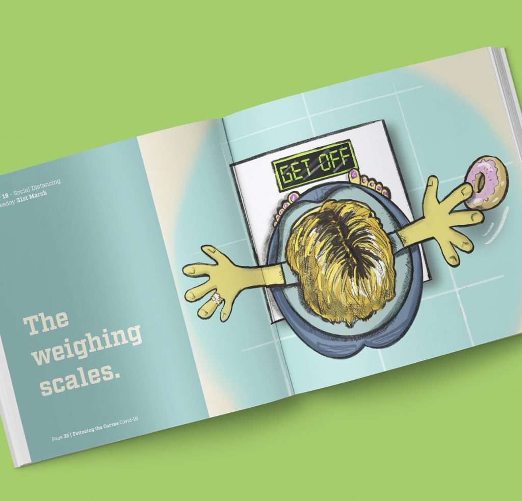 Fatten the Curves St. Francis Hospice Book Design