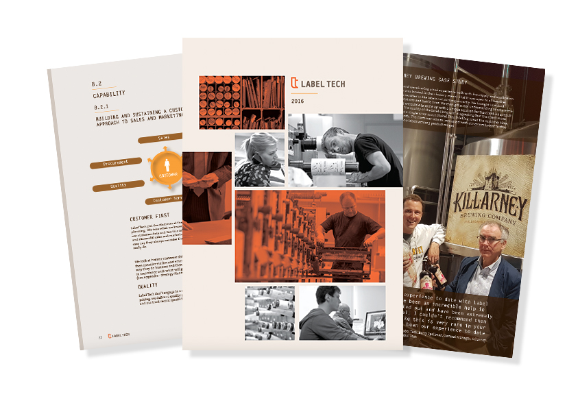 Brochure Design for Label Tech