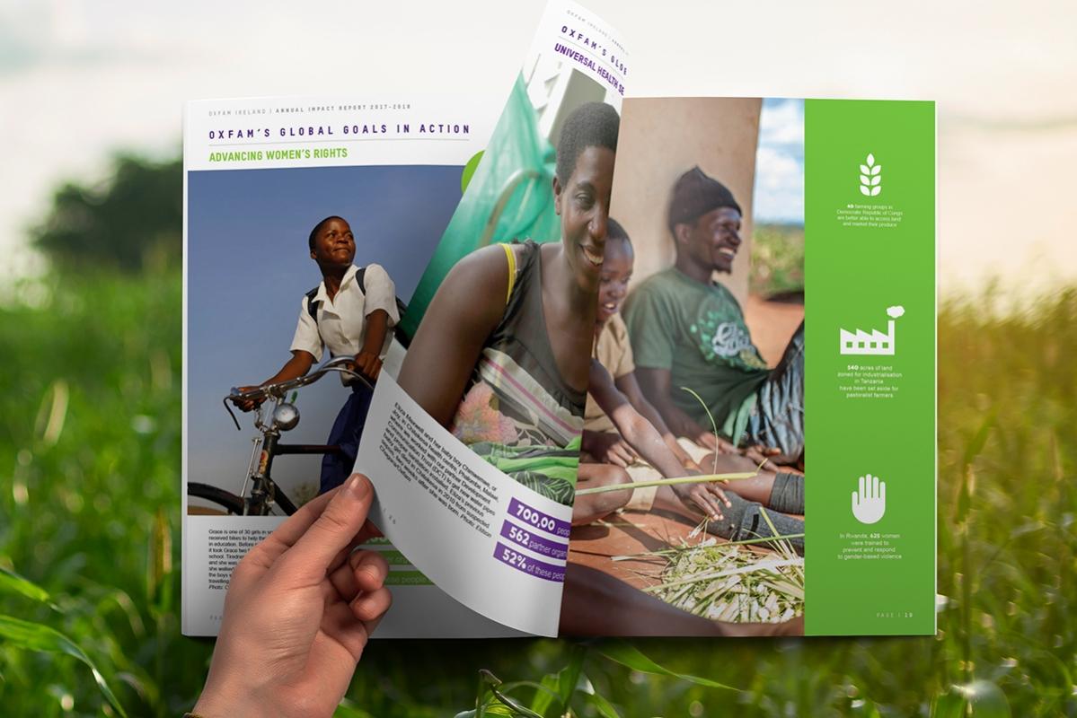 OXFAM Annual Report Design 2017