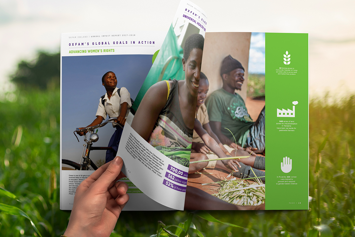 OXFAM Annual Report Design 2017