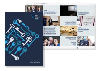 Annual Report Design for Peter McVerry Trust 2016