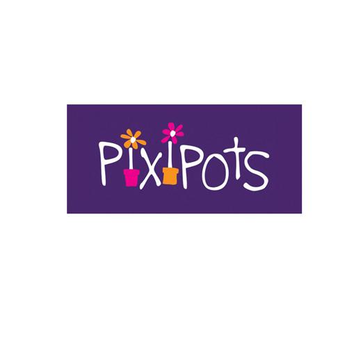 PixiPots Logo Design