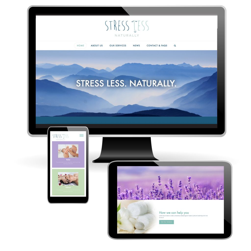Stress Less Website Design