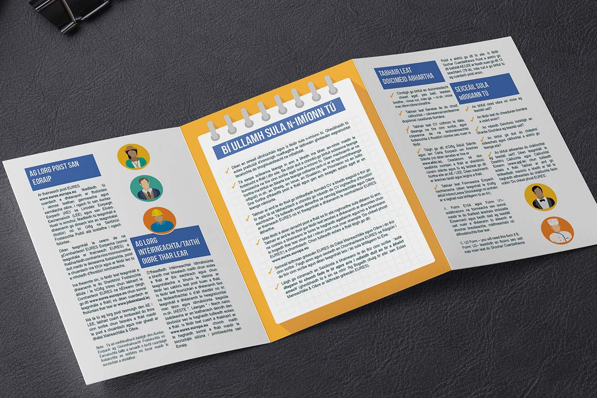 Tri Fold Brochure Design Dublin EURES