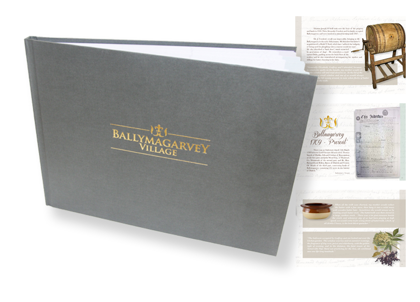 Ballymagarvey Luxury A4 book design
