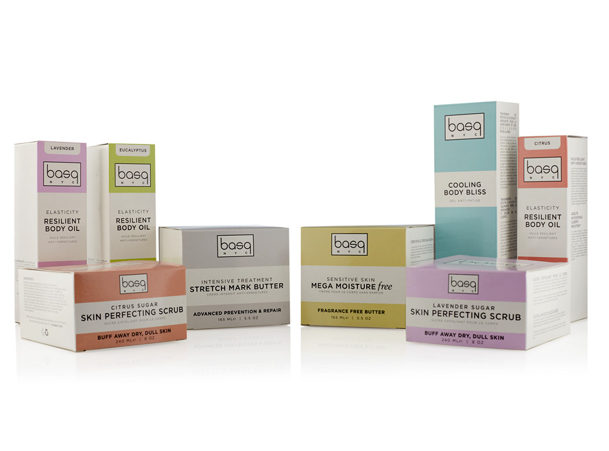 BASQ NYC Cosmetic Packaging Designs Dublin - A range of natural beauty products for pregnant women