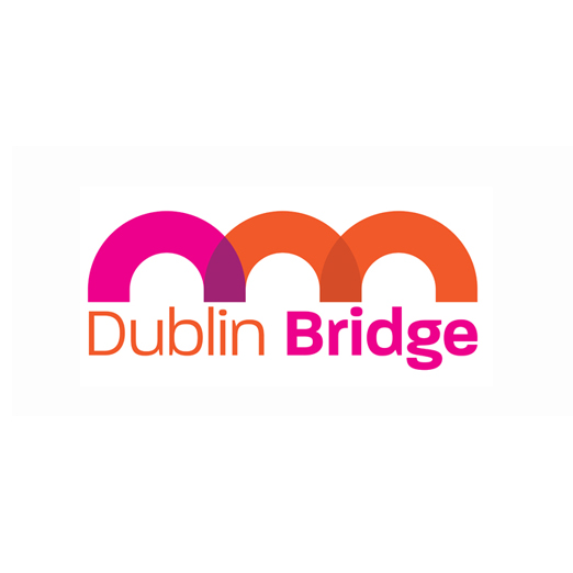 DublinBridge Logo Design The D and B, turned on their sides form the Dublin Bridge. Dublin Bridge are a group of business people giving back to their communities through charitable donations.