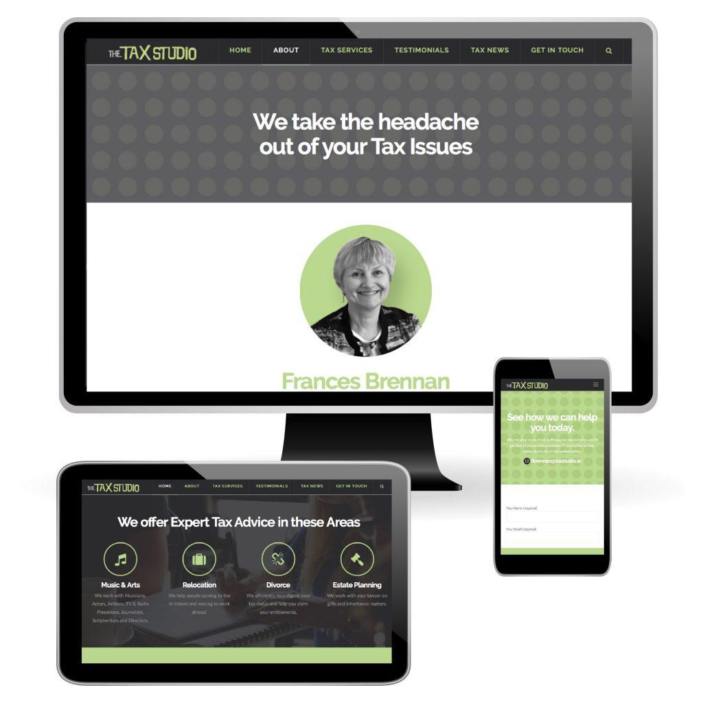 The Tax Studio Website Design Dublin