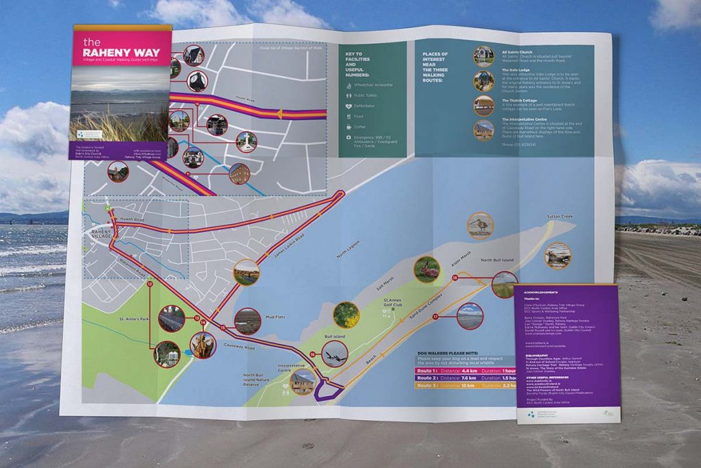 Award Winning Design: The Raheny Way Map Design for Dublin City Council